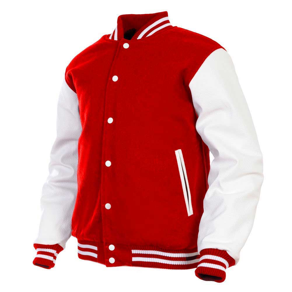 6ab96047 Womens Genuine Leather Sleeve and Wool Blend Letterman College Varsity  Jackets